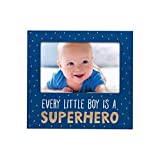 Little Blossoms by Pearhead Every Little Boy is a Super Hero, Keepsake Photo Frame, Blue