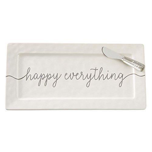 Ceramic Wedding Platter - Mud Pie 4075142 Happy Hostess Serving Platter, White