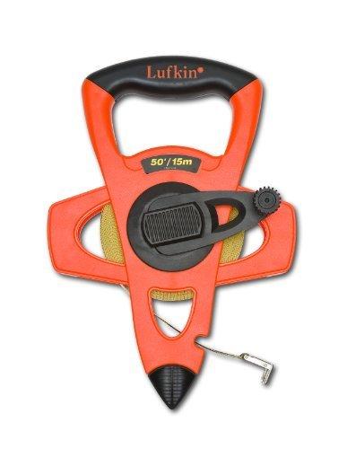 Lufkin FM015CME 2-Sided, Metric/English 13mm1/2-Inchx15m50-Foot Hi-Viz Orange Fiberglass by Lufkin ()