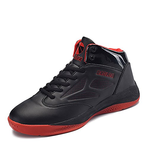 GESIMEI Mens High Top Basketball Sneakers Lightweight Running Trainers Athletic Sporting Shoes Black CN40