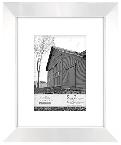 Malden International Designs Berkeley Beveled Edge Wood Picture Frame, 5x7, - Frames Cheap Small