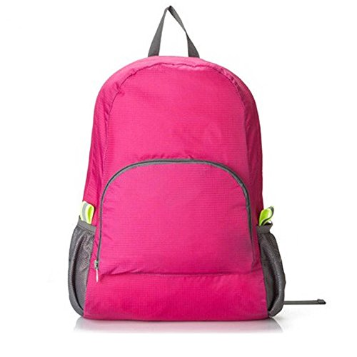 Escalada del recorrido del sistema de calidad superior Mochila impermeable plegable Estudiantes Mochila bolsas de deporte al aire libre del alpinismo, bolsos azules Red