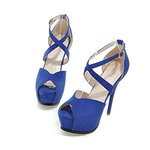 AdeeSu Ballerine Donna, Blu (Blue), 35