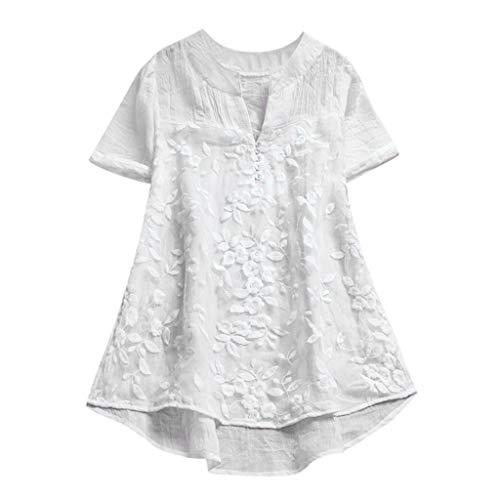Damen Bluse 3//4 Arm Hemd Tunika Kurzarm Schulterfrei Strand Hemdbluse Oberteil