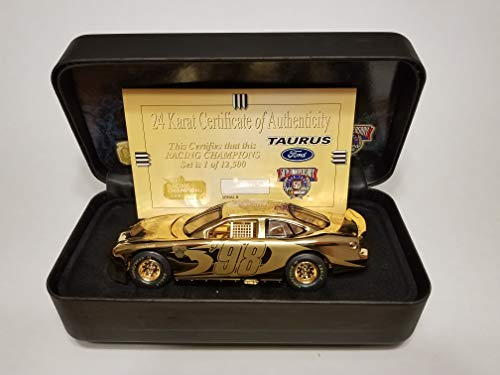 Racing Champions NASCAR 50th Anniversary 24 K Gold Ford Taurus 1:24 Scale from Racing Champions