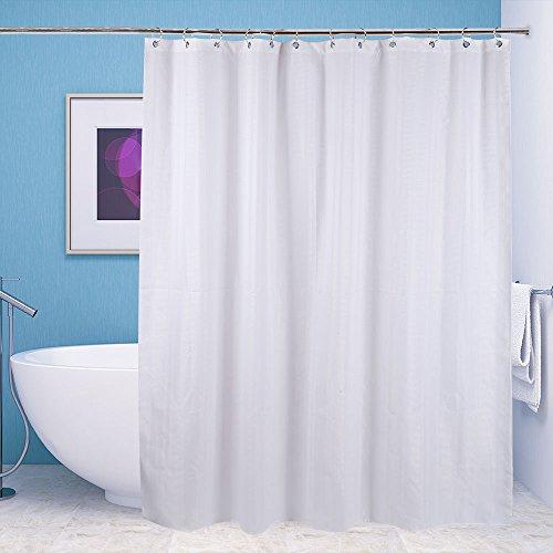 Shower Curtain XIXOV Premium Waffle Weave Fabric Shower
