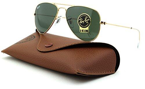 (Ray-Ban RB3044 Aviator Small Metal Unisex Sunglasses (Arista Frame, Crystal Green Lens L0207))