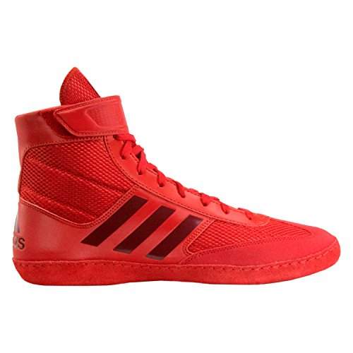 adidas Combat Speed 5 Men's Wrestling Shoes, Red/Dark Red, Size 4