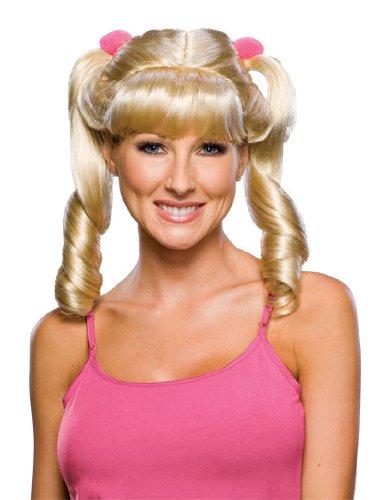 Rubie's Blond Cheerleader Wig, Yellow, One Size