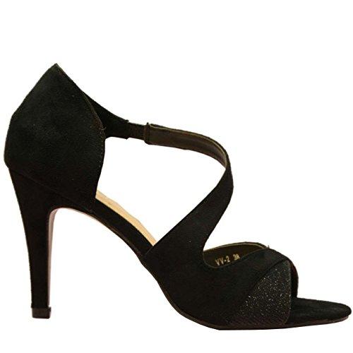 Cucu Fashion - Zapatos con tacón mujer Negro - negro