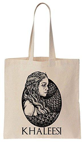 Khaleesi Art Portrait Sacchetto di cotone tela di canapa