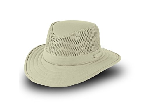 Tilley TM10B Flat Top Cotton Mesh Hat - Khaki w/ Olive Underbrim - 7 1/4 by Tilley