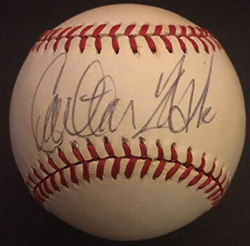 - Carlton Fisk Autographed Official American League Baseball SGC Red Sox HOF