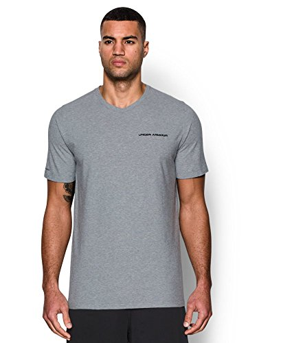 UPC 889362817323, Under Armour Men's Charged Cotton T-Shirt, True Gray Heather/Black, XX-Large