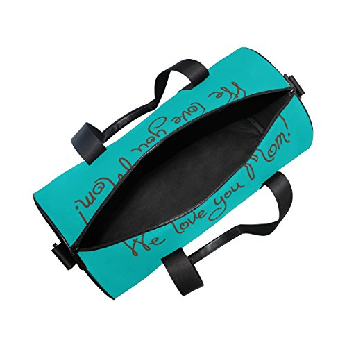 U LIFE Happy Mother Day Cute Cat Love Mom Sports Gym Shoulder Handy Duffel Bags for Women Men Kids Boys Girls by ALAZA (Image #4)