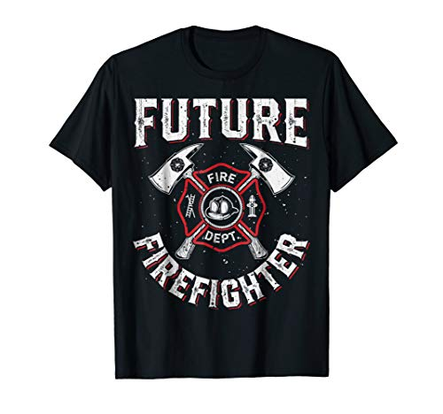 Future Firefighter T shirt Kids Boys Youth Men Funny Costume]()
