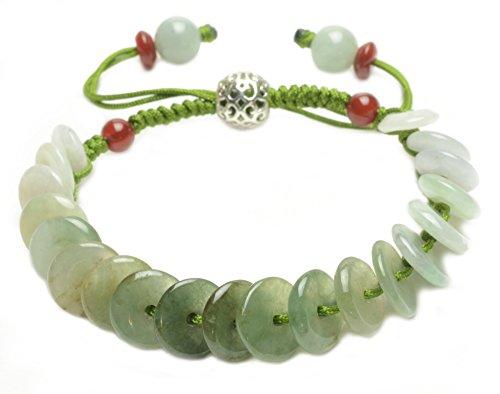 'Rolling in Fortune 'Fortune Jade Coins Amulet Bracelet-Fortune Feng Shui ()