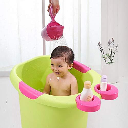 Ducha del ba/ño del beb/é de Dibujos Animados Baby Shampoo Copa ba/ñar a los ni/ños Achicador Cuchara de beb/é beb/é Ducha Taza de champ/ú Polvo Fresco
