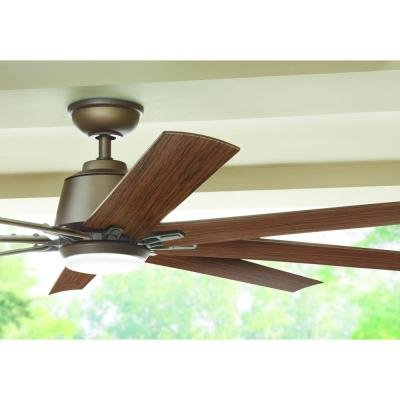 72 in. LED Indoor/Outdoor Espresso Bronze Ceiling Fan | 72 Inch ...