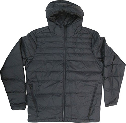 (Oakley Men's Thermo Down Jacket, Blackout, Large)