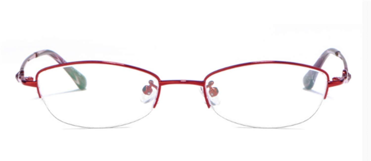 Red Reading Glasses Women's Fashion UltraLight Resin Reading Glasses AntiFatigue Comfortable Old Glasses (color   Pink, Size   2.75X)