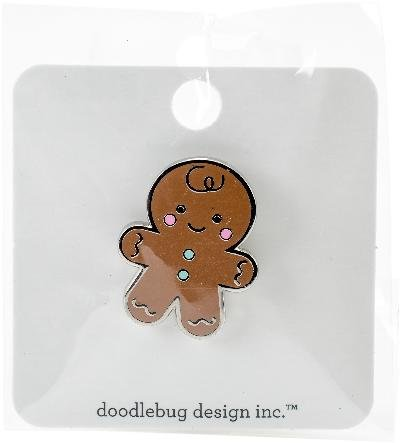 Collectibles Gingerbread - Doodlebug Collectible Enamel Pin-Milk & Cookies Gingerbread Man, CP5772, by Doodlebug, One (1)