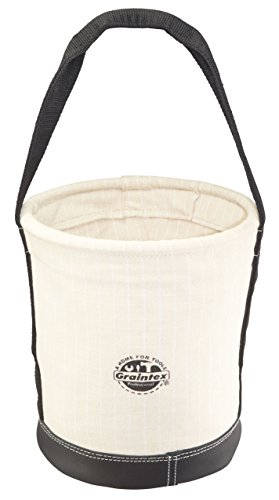 (Graintex CB2101 Utility Canvas Tapered Bucket Leather Bottom 14