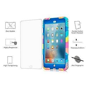 ACEGUARDER Apple Ipad Mini 2 Mini 1&2 Case Waterproof Rainproof Shockproof Kids Proof Case for Ipad Mini 2 Mini 1&2(Gifts Outdoor Carabiner + Whistle + Handwritten Touch Pen) (ICE BLUE)