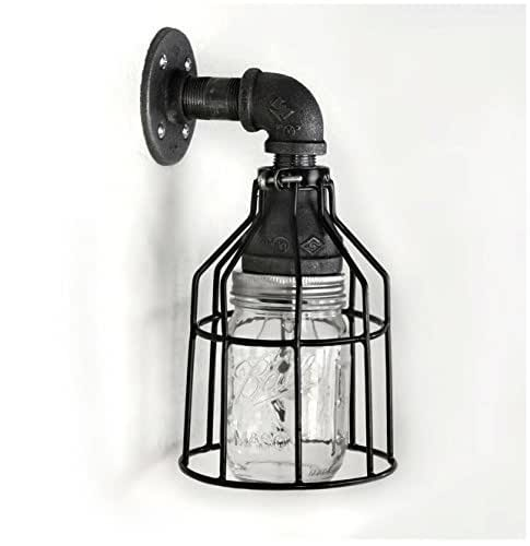 Amazon.com: Industrial Wall Sconce Pipe Lighting W/ Mason
