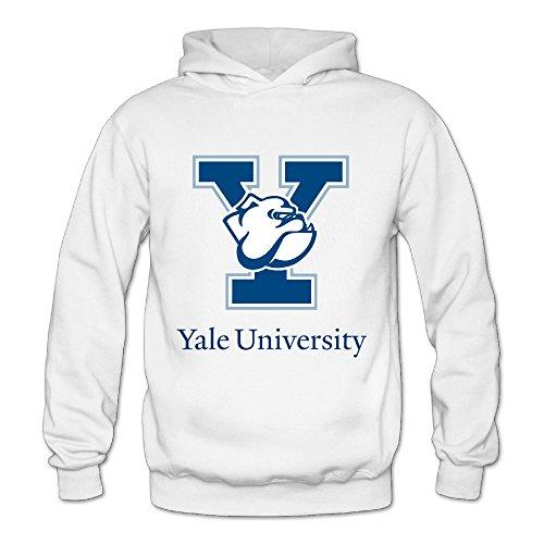 Geheimnis Gross Women's Yale University Bulldogs 5 Hoodies Sweatshirt Size XL US White