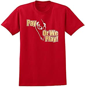 Music Notation Pay or We Play - Red Rot T Shirt Größe 87cm 36in Small...