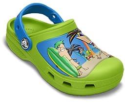 crocs SS13 Phineas Ferb Clog (Toddler/Little Kid),Volt Green/Ocean,6 M US Toddler