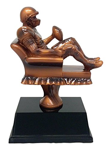 Fantasy Football Armchair Champion Trophy - FFL Gridiron Award - 6.5 Inch Tall - Engraved Plate on Request - Decade Awards