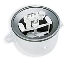 KitchenAid Ice Cream Maker Attachment makes up to 2 quarts of fresh ice cream, sorbet and other frozen desserts. (Fits all Stand Mixers except KSM6573C and KSM7 models. For those models order KAICA) CERTIFIED REFURBISHED