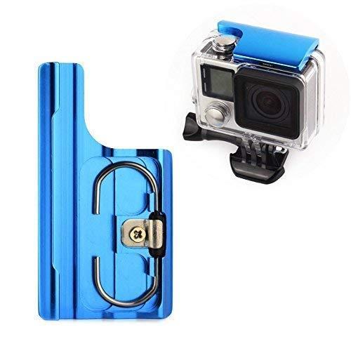 (SOONSUN Aluminum Replacement Latch Rear Snap Lock Buckle for GoPro Hero 4 Hero 3+ Hero4 Camera Standard Waterproof Skeleton Housing (Blue))
