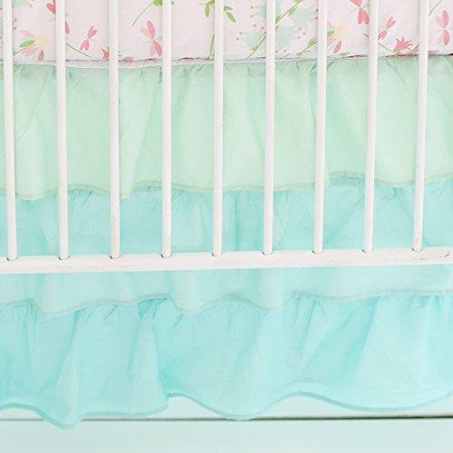 My Baby Sam Ombre Ruffled Nursery Skirt, Mint