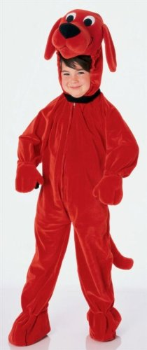 CHILD Medium 8-10 - Clifford The Big Red Dog DELUXE Costume
