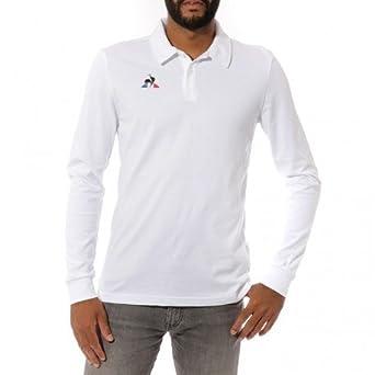 Le Coq Sportif Presentation Homme Polo Blanc  Amazon.fr  Vêtements ... 63942eb223d0