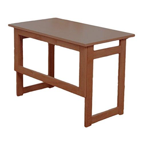 天然木折りたたみテーブル 収納可能 組み立て不要 完成品 (高さ55cm, ブラウン) B06ZZRJVN2 ブラウン