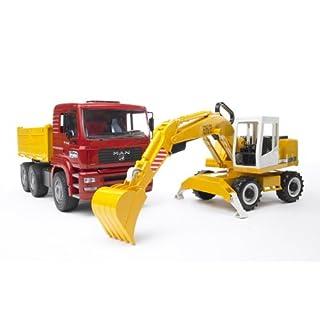 Bruder Man TGA Construction Truck and Liebherr Excavator - 2751