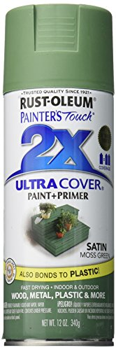 (Rust-Oleum 249071 Painter's Touch Multi Purpose Spray Paint, 12-Ounce, Satin Moss Green)