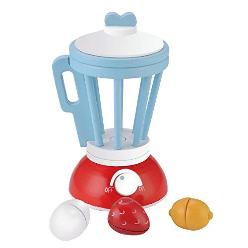 KIDS TOYLAND Wooden Pretend Food Toy Kid's New Smoothie Playset Enjoy Time Play Kitchen Set with Accessories by KIDS TOYLAND