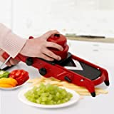 Kitchen Tools & Gadgets Kitchen Slicing Tool - Red Slicer Vegetable Fruit Cutter With Stainless Steel Blade Manual Potato Peeler Carrot Grater Gadgets - 1 x Red Slicer