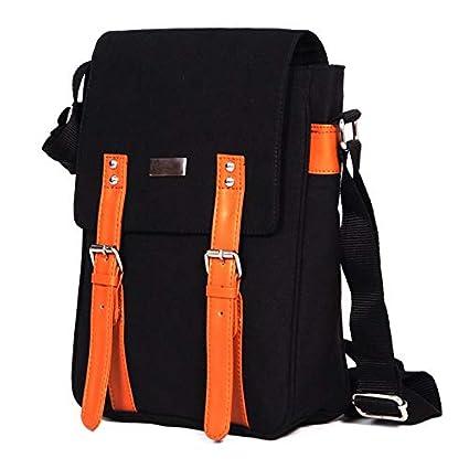 ABV Messenger Sling Bag Fashion Shoulder Canvas Bag Casual Bag Outdoors Travel Bag-Black