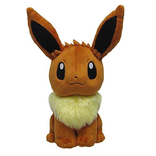 Eevee Pokemon Plush - Sanei Pokemon All Star Series Eevee Stuffed Plush, 8