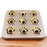 9-Cavity Nonstick Cartoon Cat Claw Baking Cake Pan for Bread Muffin Cake Baking Pan