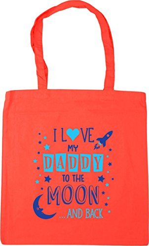 HippoWarehouse Back 10 Shopping Beach Daddy Tote 42cm I Gym Coral Love Blue and x38cm litres the My Bag to Moon TqT8rF