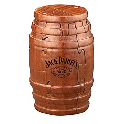 Real Wooden Barrel Puzzle 9pc (Tennessee Whiskey Bottle), Gift Boxed, Exclusive Product: Toys & Games