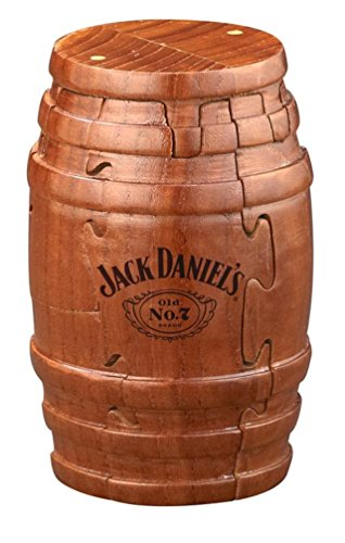 Jack Daniel's Real Wooden Barrel Puzzle 9pc (Jack Daniel's Tennessee Whiskey Bottle), Gift Boxed, Exclusive Product (Bottles Of Jack Daniels In A Barrel)