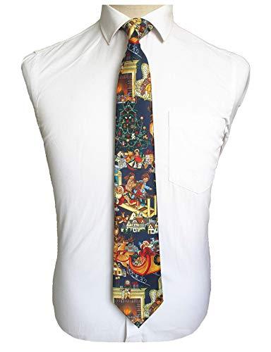 Big Boy Santa Claus Cravat Silk Ties Casual Neckwear Holiday Gifts for Men Kids